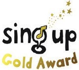 Sing Up Gold Award logo